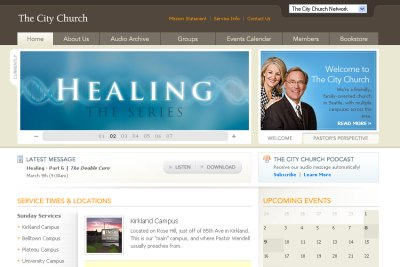 Church Website Design New Song Church